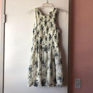 KIMCHI BLUE - White floral dress (Size XS)